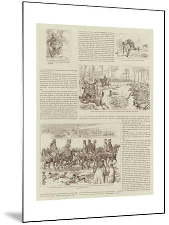 The Story of a Shooting Excursion in Turkey-Alfred Chantrey Corbould-Mounted Giclee Print