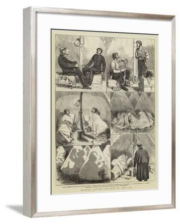 Military Sketches, Incidents of Camp Life-Alfred Chantrey Corbould-Framed Giclee Print