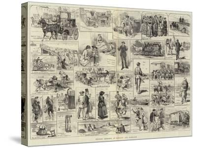Holiday Sketches at Margate and Ramsgate-Alfred Courbould-Stretched Canvas Print