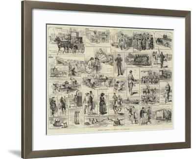 Holiday Sketches at Margate and Ramsgate-Alfred Courbould-Framed Giclee Print