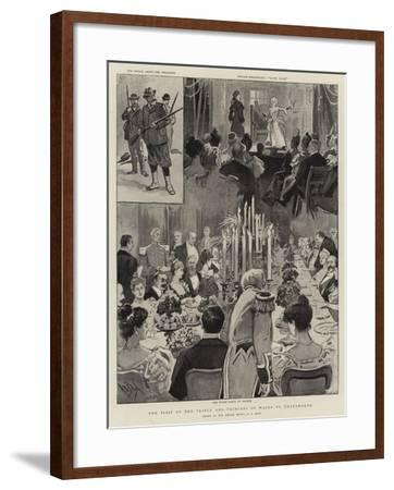 The Visit of the Prince and Princess of Wales to Chatsworth-Alexander Stuart Boyd-Framed Giclee Print
