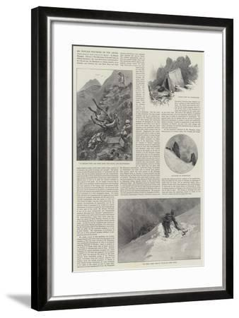 Mr Edward Whymper on the Andes-Alfred Courbould-Framed Giclee Print