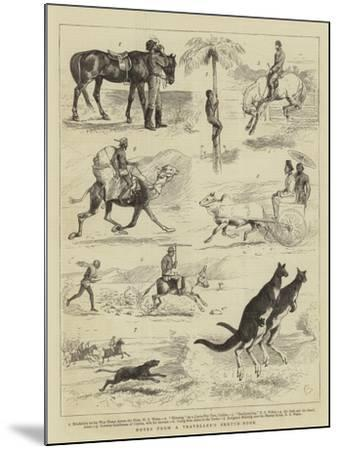 Notes from a Traveller's Sketch-Book-Alfred Chantrey Corbould-Mounted Giclee Print