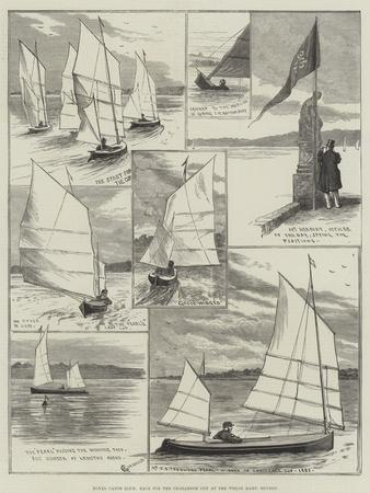 Royal Canoe Club, Race for the Challenge Cup at the Welsh Harp, Hendon-Alfred Courbould-Framed Giclee Print
