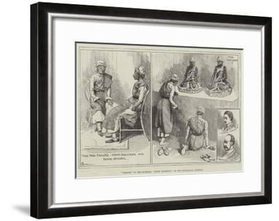 Priests of the Burmese White Elephant at the Zoological Gardens-Alfred Courbould-Framed Giclee Print