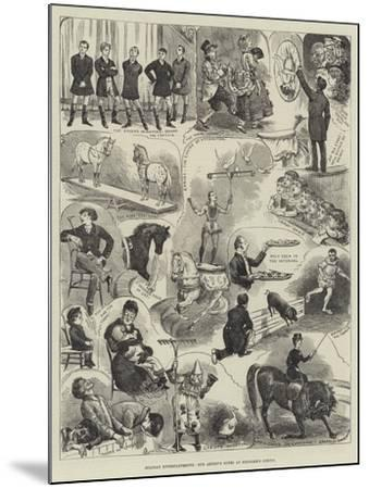Holiday Entertainments, Our Artist's Notes at Hengler's Circus-Alfred Courbould-Mounted Giclee Print