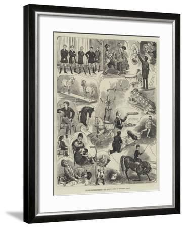 Holiday Entertainments, Our Artist's Notes at Hengler's Circus-Alfred Courbould-Framed Giclee Print