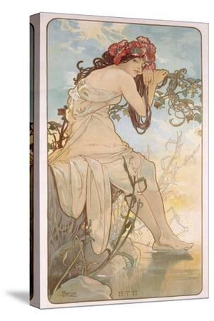 Summer; Ete, C.1896-Alphonse Mucha-Stretched Canvas Print