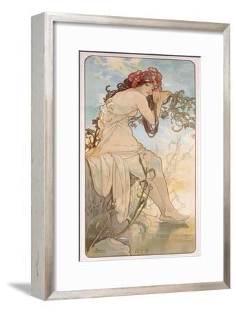 Summer; Ete, C.1896-Alphonse Mucha-Framed Giclee Print
