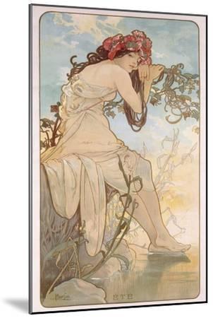 Summer; Ete, C.1896-Alphonse Mucha-Mounted Giclee Print