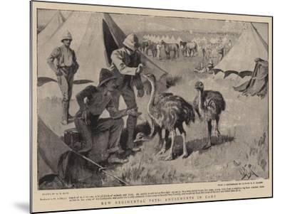 New Regimental Pets, Amusements in Camp-Alexander Stuart Boyd-Mounted Giclee Print