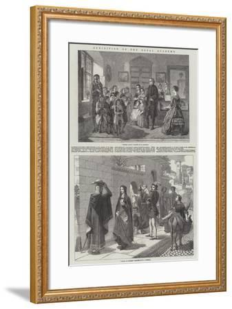 Exhibition of the Royal Academy-Alfred Rankley-Framed Giclee Print