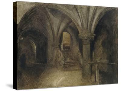 Le Crypte De L'Aquilon-Alfred William Hunt-Stretched Canvas Print