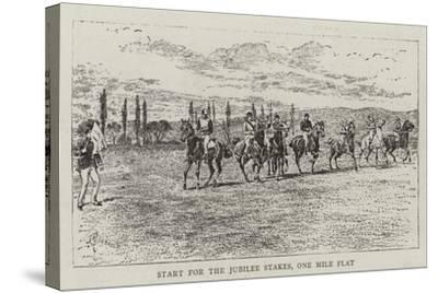 Start for the Jubilee Stakes, One Mile Flat-Alfred Chantrey Corbould-Stretched Canvas Print