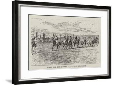 Start for the Jubilee Stakes, One Mile Flat-Alfred Chantrey Corbould-Framed Giclee Print