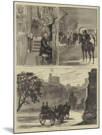 The Royal Wedding at Windsor-Alfred Chantrey Corbould-Mounted Giclee Print