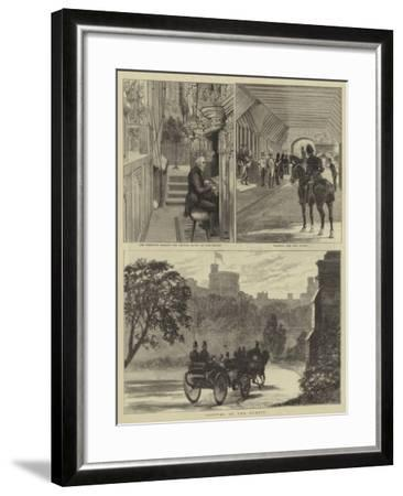 The Royal Wedding at Windsor-Alfred Chantrey Corbould-Framed Giclee Print