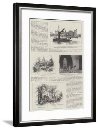 The Late Archbishop of Canterbury-Alfred Robert Quinton-Framed Giclee Print