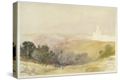 Durham from the Red Hills, 1880-86-Alfred William Hunt-Stretched Canvas Print
