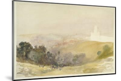 Durham from the Red Hills, 1880-86-Alfred William Hunt-Mounted Giclee Print