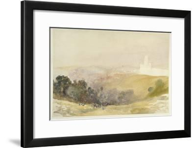 Durham from the Red Hills, 1880-86-Alfred William Hunt-Framed Giclee Print
