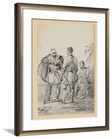 Three Caucasian Men in Conversation-Alexander Orlowski-Framed Giclee Print