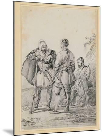 Three Caucasian Men in Conversation-Alexander Orlowski-Mounted Giclee Print