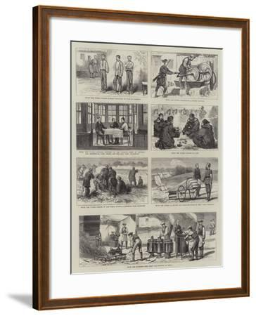 With the Turks and Russians-Alfred Chantrey Corbould-Framed Giclee Print