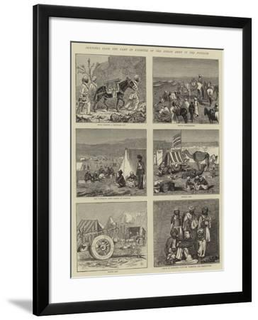 Sketches from the Camp of Exercise of the Indian Army in the Punjaub-Alfred Chantrey Corbould-Framed Giclee Print