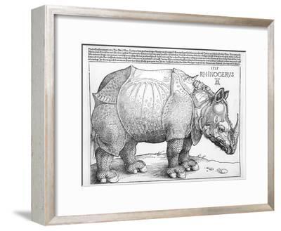 The Rhinoceros, 1515-Albrecht D?rer-Framed Premium Giclee Print