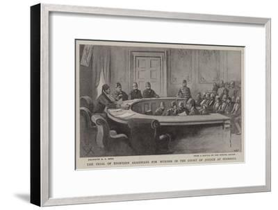 The Trial of Eighteen Armenians for Murder in the Court of Justice at Stamboul-Alexander Stuart Boyd-Framed Giclee Print