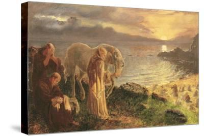 St Columba's Farewell to the White Horse, 1865-1868-Alice Boyd-Stretched Canvas Print