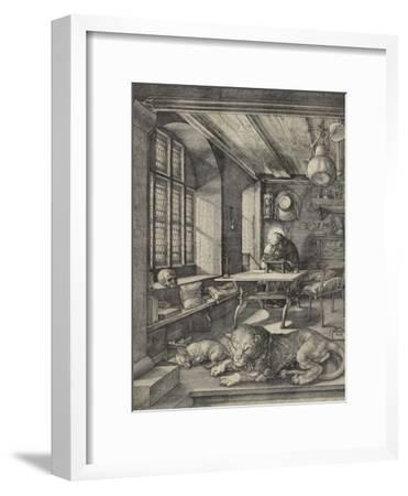 St Jerome in His Study, 1514-Albrecht D?rer-Framed Premium Giclee Print
