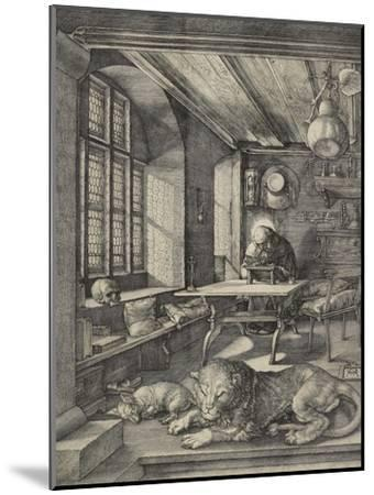 St Jerome in His Study, 1514-Albrecht D?rer-Mounted Premium Giclee Print