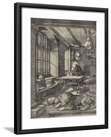 St Jerome in His Study, 1514-Albrecht D?rer-Framed Giclee Print