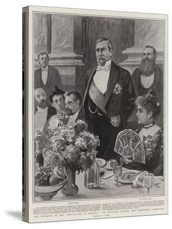 The Banquet of the Devonians in London, Sir Redvers Buller, the President, Speaking-Alexander Stuart Boyd-Stretched Canvas Print