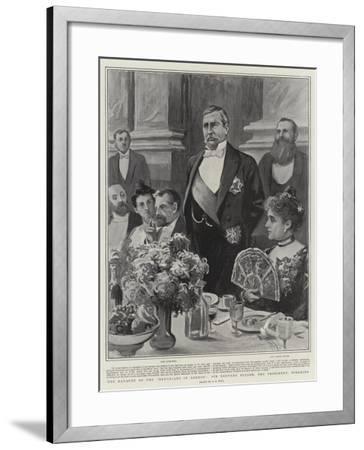 The Banquet of the Devonians in London, Sir Redvers Buller, the President, Speaking-Alexander Stuart Boyd-Framed Giclee Print