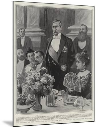 The Banquet of the Devonians in London, Sir Redvers Buller, the President, Speaking-Alexander Stuart Boyd-Mounted Giclee Print