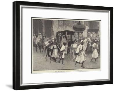 The Sultan of Morocco in His New Cab-Amedee Forestier-Framed Giclee Print