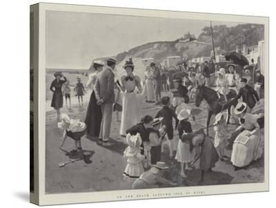 On the Beach, Sandown, Isle of Wight-Amedee Forestier-Stretched Canvas Print