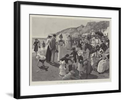 On the Beach, Sandown, Isle of Wight-Amedee Forestier-Framed Giclee Print