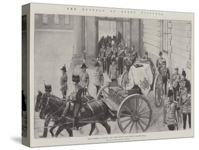 The Funeral of Queen Victoria-Amedee Forestier-Stretched Canvas Print