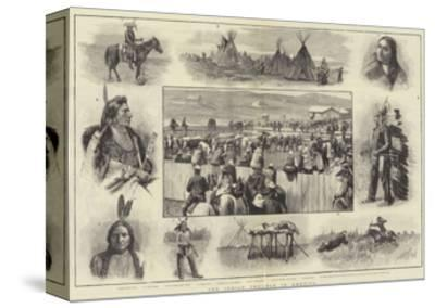 The Indian Trouble in America-Amedee Forestier-Stretched Canvas Print