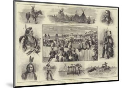 The Indian Trouble in America-Amedee Forestier-Mounted Giclee Print