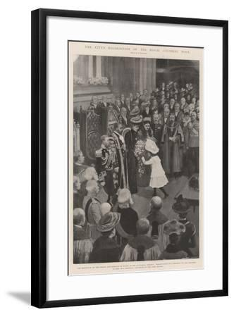 The City's Recognition of the Royal Colonial Tour-Amedee Forestier-Framed Giclee Print