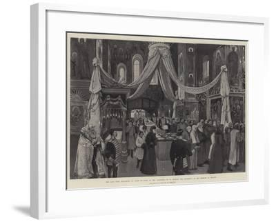The Late Czar Alexander III Lying in State at the Cathedral of St Michael the Archangel-Amedee Forestier-Framed Giclee Print