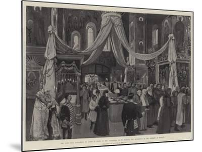The Late Czar Alexander III Lying in State at the Cathedral of St Michael the Archangel-Amedee Forestier-Mounted Giclee Print