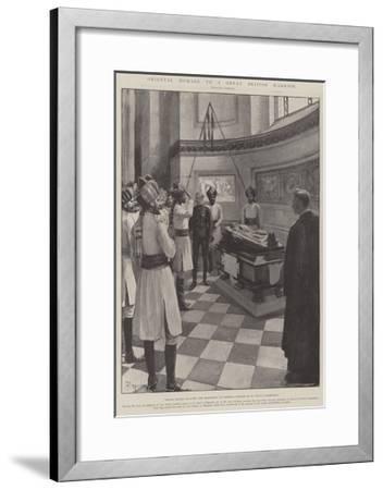 Oriental Homage to a Great British Warrior-Amedee Forestier-Framed Giclee Print