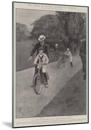 The Prince of Wales's Children as Cyclists-Amedee Forestier-Mounted Giclee Print