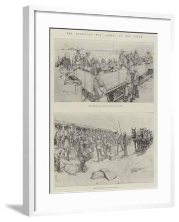 The Transvaal War, Scenes at the Front-Amedee Forestier-Framed Giclee Print